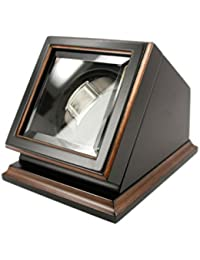 "New Automatic Watch Winder Rotater Box Wood Finish 7.25 ""W x 6.25 ""D x 6.0 ""H (Black)"