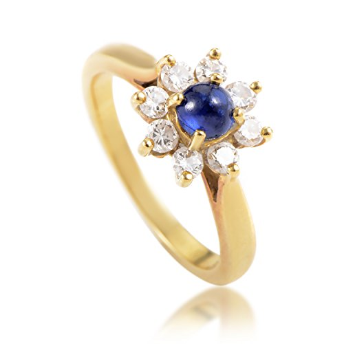 Tiffany & Co Tiffany & Co. 18K Yellow Gold Diamond and Sapphire Flower (Tiffany Sapphire Bands)