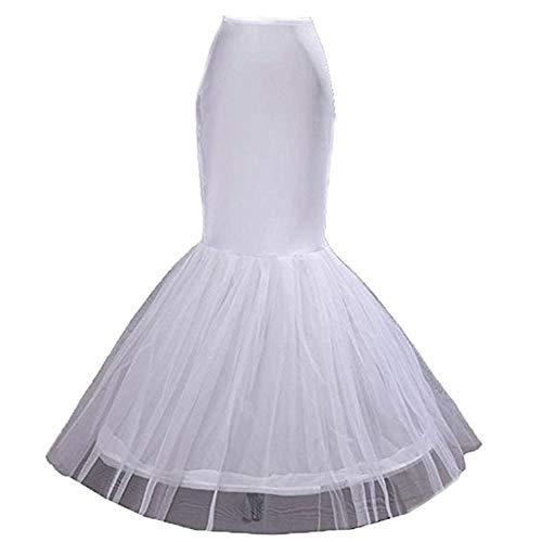 Beautydress Women's Full Length Petticoat Bridal Underskirt Half Slip for Wedding Dress, Mermaid 1, One Size