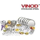 Vinod Steel 55 Pcs Dinner Set
