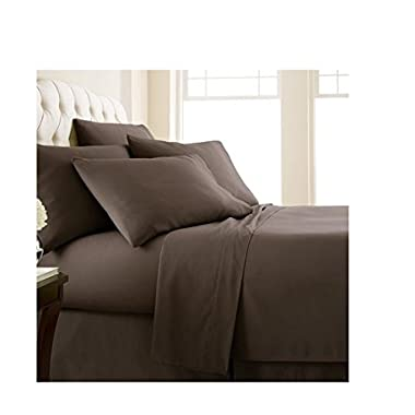 Southshore Fine Linens 6 Piece - Extra Deep Pocket Sheet Set - CHOCOLATE BROWN - Full