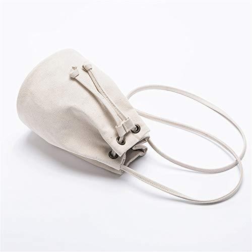 bon usine femme LANDONA nouvelle toile Messenger sac seau femme sac Blanc Harajuku en Mini coréenne Yuanben épaule paquet 50P08