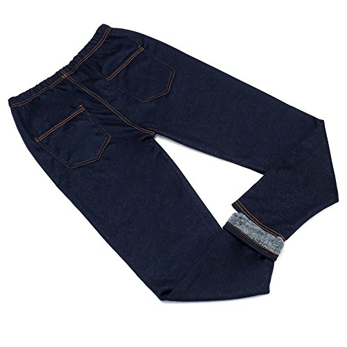 Plus Size Jeans Leggings Für Damen , Blau In Gr. 3Xl/4Xl bei Ital-Design