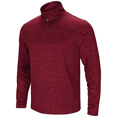 Hydro Zip Hoodie - Colosseum Mens Hydro Quarter Zip Long Sleeve Wind Shirt Garnet - S