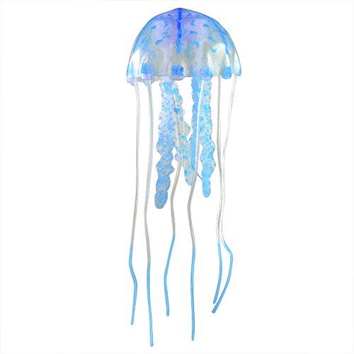 She-love Realistic Fluorescent Jellyfish Aquarium Tank Ornament Fake Silicone Artificial Learning Development Toys
