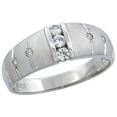 Sterling Silver Zirconia Wedding Classic