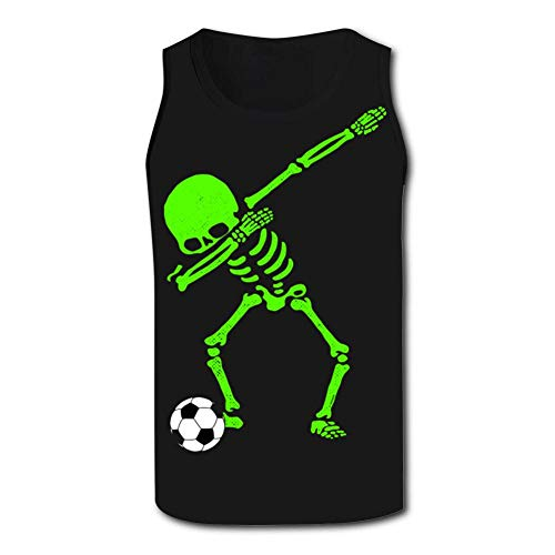 Dabbing Skull Football Men's Tank Tops 3D Printed Sleeveless T Shirts Workout Fitness Tank Top for Men