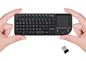 FAVI FE01-BL Mini 2.4GHz Wireless Keyboard Touchpad with Laser Pointer (Black)