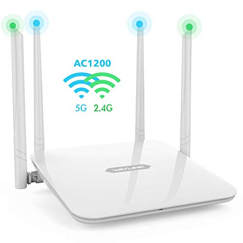 WAVLINK WiFi Router/High Speed WiFi Range Extender/Coverage Up to 1200Mbps with 5GHz Gigabit Dual Band Wireless Internet Router