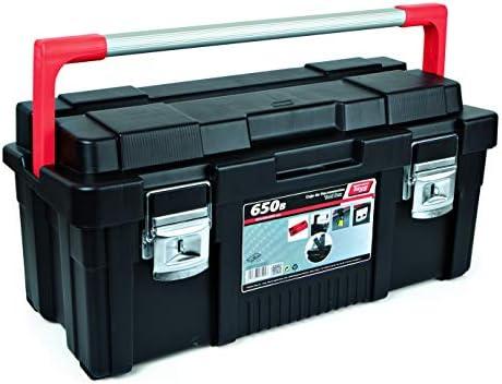 Tayg 172007 Caja de herramientas de plástico-aluminio 650-B, negro ...