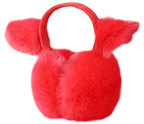 Biwinky Women Girls Cute Cat Ears Rabbit Fur Catoon Warm Winter Earmuffs C6