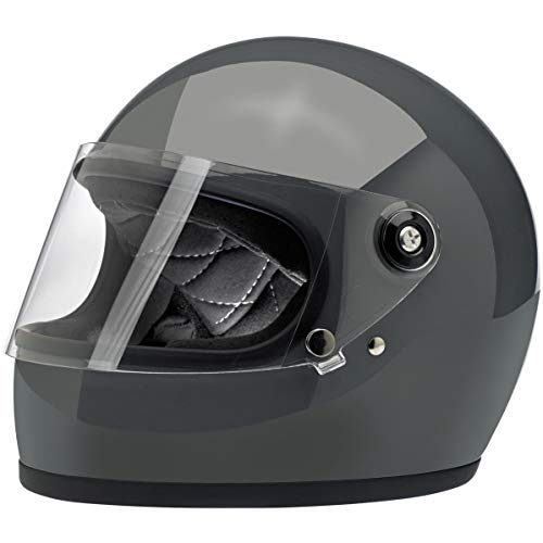 Biltwell Gringo S ECE Rated Helmet Gloss Storm Grey Large (More Size and Color Options)