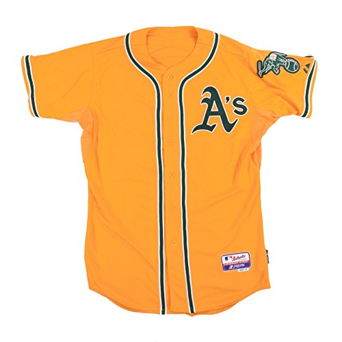 Oakland Athletics Authentic Cool Base (MLB Men's Oakland Athletics Six Button Cool Base Authentic Alternate Jersey (Gold,)