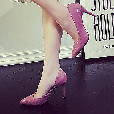 Tacones Otoño 2'5 4'5 Pink Stiletto Lvyuan Verde ggx Verano Negro Mujer Rosa Tacón Semicuero Cms Blushing E7XqF