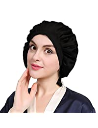 LilySilk Silk Sleep Cap for Hair Stretchy 100% Pure Silk Hair Cap Women's Bonnet