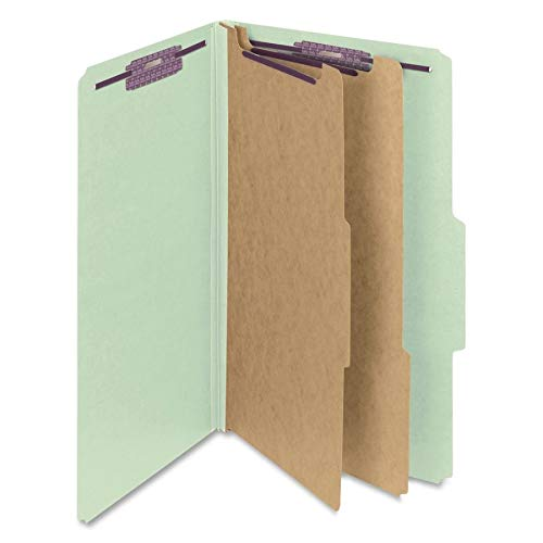 2 Pressboard Divider (Smead Pressboard Classification File Folder with SafeSHIELD Fasteners, 2 Dividers, 2