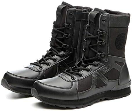 アサルトブーツは、Cortex暖かいハイヘルプレースアップスタイルの登山靴快適な滑り止め耐摩耗クッションラバーソールをキープ (色 : 黒, サイズ : 23.5 CM)
