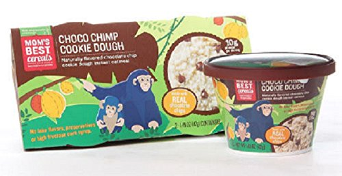 Moms Best Choco Chimp Cookie Dough Instant Oatmeal - Single Serve Instant Oatmeal Cups - 2.98 Oz. 2 Pk.