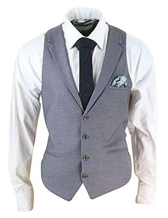 Mens Waistcoat Collar Formal Smart Casual 1920s Peaky Blinders Gatsby Vintage