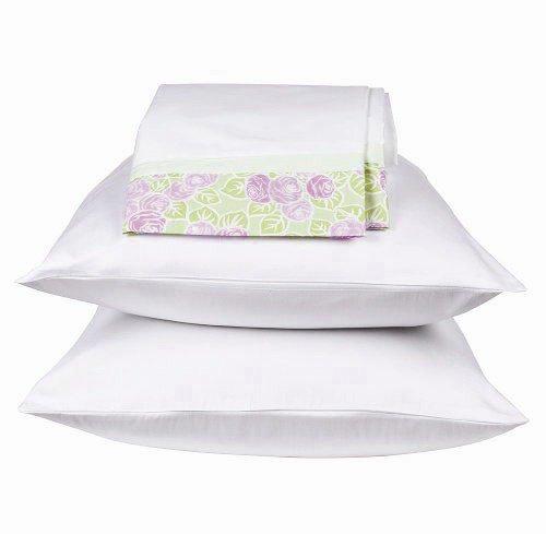 Flower Basket Lilac/green Twin Sheet Set (Bacati Flower Basket)