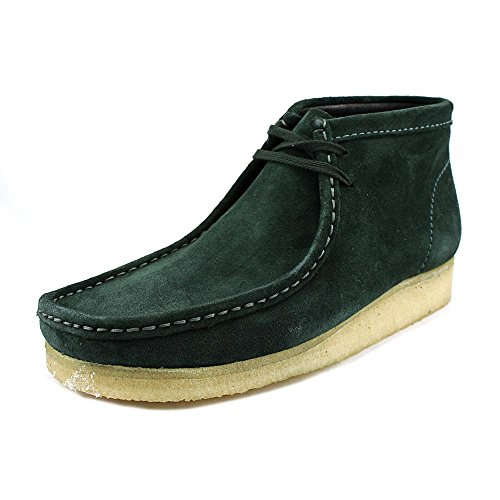 Clarks Hombres Wallabee Boot bronce Suede verde oscuro