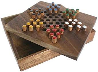 CAL FUSTER - Damas Chinas. Juego de Madera de Dos a Seis Jugadores. Medidas: 4x16x13 cm.: Amazon.es: Juguetes y juegos