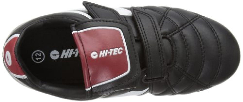 Hi-Tec Unisex League Pro Si Ez Junior Football Shoes - Black (Black/White/Red 021), 1 UK (33 EU)
