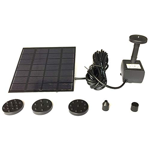 Garden Timer – 7v 1.2w Solar Water Panel Power Fountain Pump Kit Pool Garden Pond Submersible Watering 180l H – Garden Sprinklers Lawns Held Areas Small Hand System Large