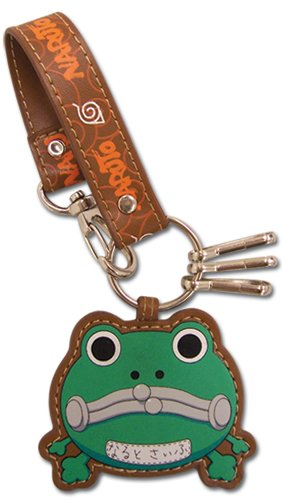 Great Eastern Entertainment Naruto Frog Purse Leather Keychain (Naruto Scroll Bag)