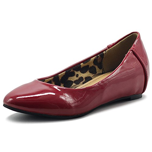 mujer Para Rojo Ollio Ballet oscuro Flats tRfWYwq