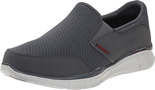 Skechers Men's Equalizer Persistent Slip-On Sneaker, Charcoal, 9.5 M US