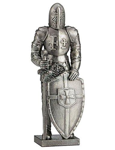 Veronese (ヴェロネーゼ) 中世の騎士 剣 盾 十字架 アイアン風 フィギュア B077CQZCD9