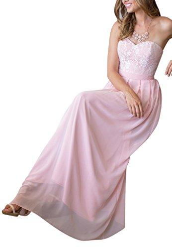 Schatzausschnitt Abendkleid Chiffon BRIDE Rosa GEORGE rosa Charming gxqwtPvavz