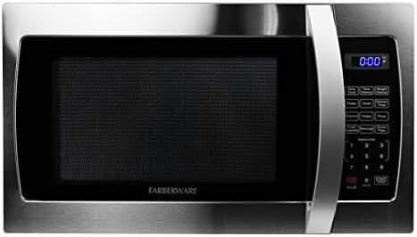 Farberware Professional FMO13AHTBKE 1.3 Cubic Foot 1000-Watt Microwave Oven, Stainless Steel