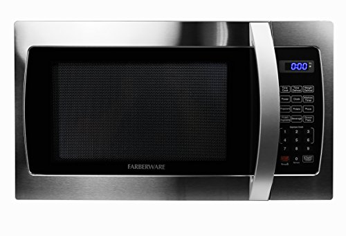 (Farberware Professional FMO13AHTBKE 1.3 Cu. Ft. 1000-Watt, Microwave Oven with LED Lighting, Stainless Steel)