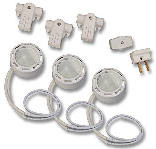 Westek XLV30HCCC Xenon Line Voltage Accent Light, 3-Pack, (Line Accents)