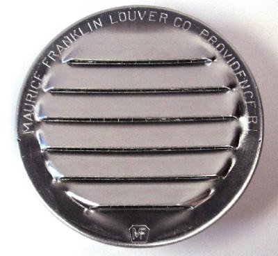 Maurice Franklin Louver-2'' Round Aluminum Louver with Insect Screen (Priced Per Bag of 6). Item #2'' RL-100