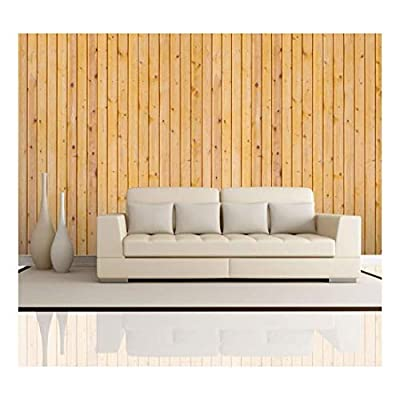 Astonishing Expert Craftsmanship, Vertical Yellow Wood Textured Paneling Wall Mural Removable Wallpaper, Crafted to Perfection