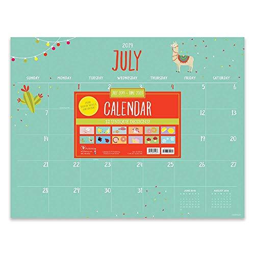 Monthly Themed Large Desk Pad Monthly 2020 Calendar: July 2019 - June 2020 (Academic Year Desktop Calendar, Planning Blotter) Academic Desk Pad Calendar