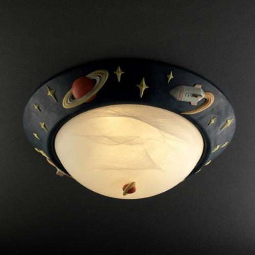 Justice Design Group Kid's Room 3-Light Flush-Mount - Ceramic Shade