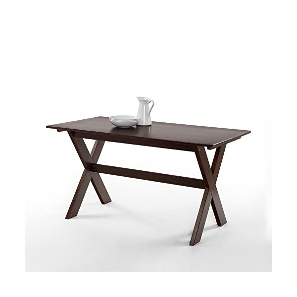 Zinus William Trestle Large Wood Dining Table / Espresso