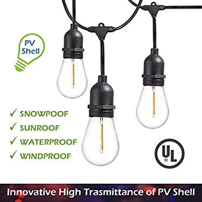 24-Pack LED 1W String Light Bulbs, Jslinter S14 Edison Vintage Style Replacement Outdoor Light, Warm White Equivalent to 10w, e26 Base