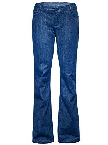 Zity Women's High Waisted Boyfriend Jeans Blue 18 - High Waisted Wide Leg Jean