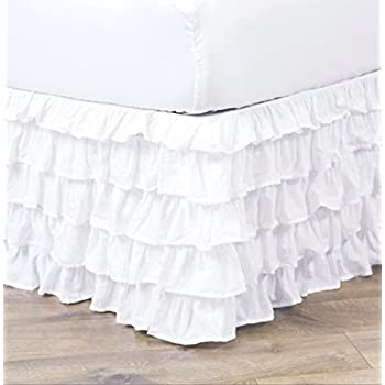 Amazon Com Empire Home Pleated Ruffled Bed Skirt Solid Dust Ruffle