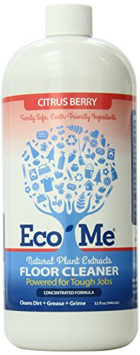 Eco Me Natural Non-Toxic Multi-Surface Floor Care Cleaner, Healthy Citrus Berry Scent, 32 Ounces