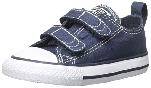 Converse Boys' Chuck Taylor All Star 2V Low Top Sneaker, Navy/White, 5 M US Toddler