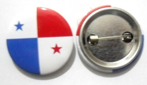 National Country Flag Lapel Pin Button Badge Applique Emblem 3 Cm Diameter (Panama)