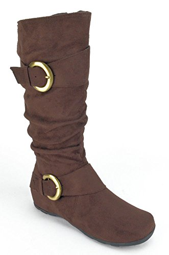 Journee Collection Brown Jester Tall Boots - Women