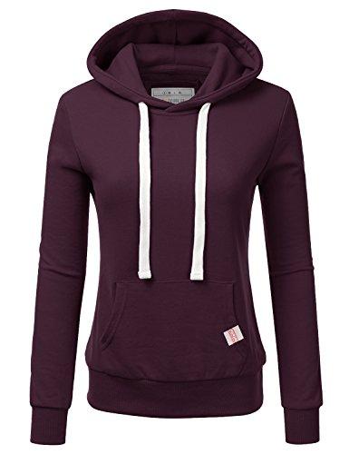 (NINEXIS Womens Long Sleeve Fleece Pullover Hoodie Sweatshirts, Plum 1X Plus Size)