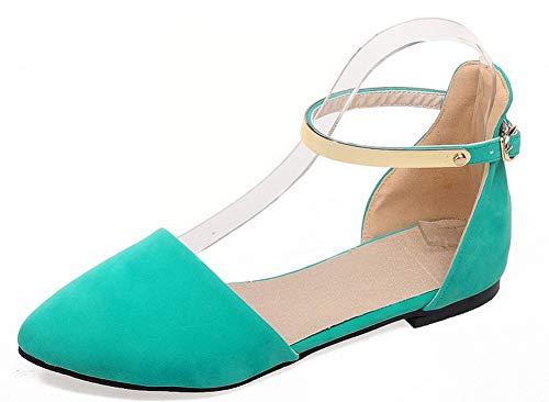 Tacco Basso Ballet Verde AgooLar Flats GMMDB010572 Puro Donna Fibbia B7wwEq6F